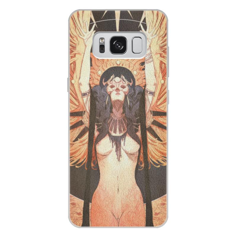 Чехол для Samsung Galaxy S8 Plus кожаный Printio Ангел ночи ночи в роданте