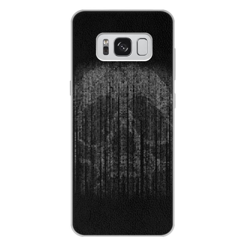 Чехол для Samsung Galaxy S8 Plus кожаный Printio Голограмма череп чехол для samsung galaxy s5 printio череп художник