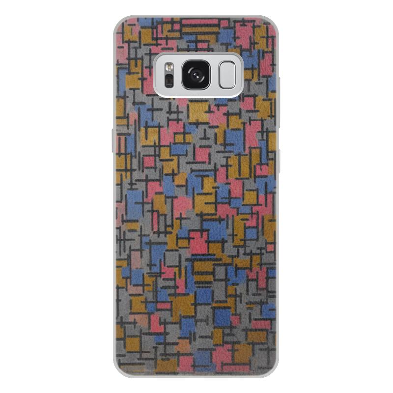 Чехол для Samsung Galaxy S8 Plus кожаный Printio Композиция (питер мондриан) чехол для samsung galaxy s5 printio бродвей буги вуги питер мондриан