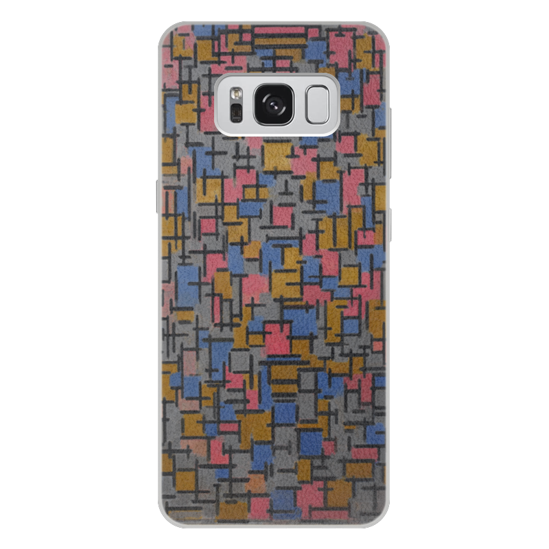 Чехол для Samsung Galaxy S8 Plus кожаный Printio Композиция (питер мондриан) чехол для карточек пит мондриан дк2017 110