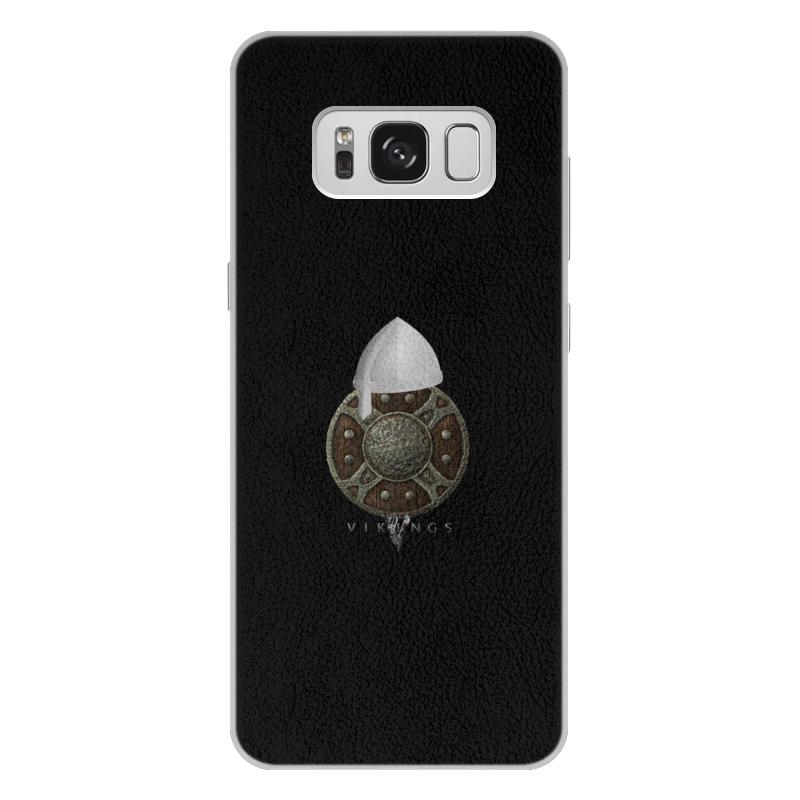 Чехол для Samsung Galaxy S8 Plus кожаный Printio Викинги. vikings чехол для samsung galaxy s8 plus объёмная печать printio викинги vikings