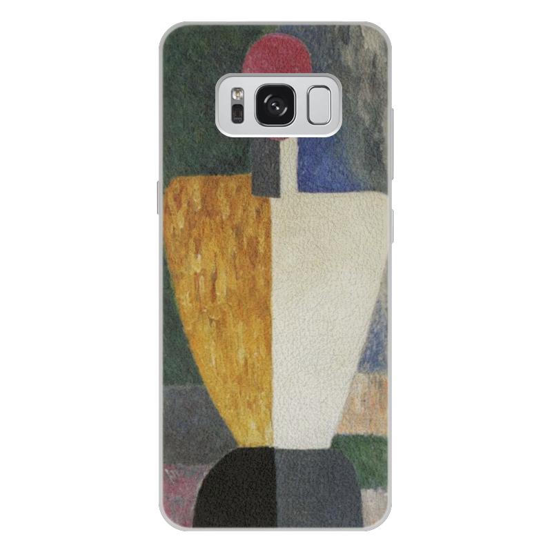 Чехол для Samsung Galaxy S8 Plus кожаный Printio Торс (фигура с розовым лицом) (малевич) чехол для samsung galaxy s5 printio торс фигура с розовым лицом малевич