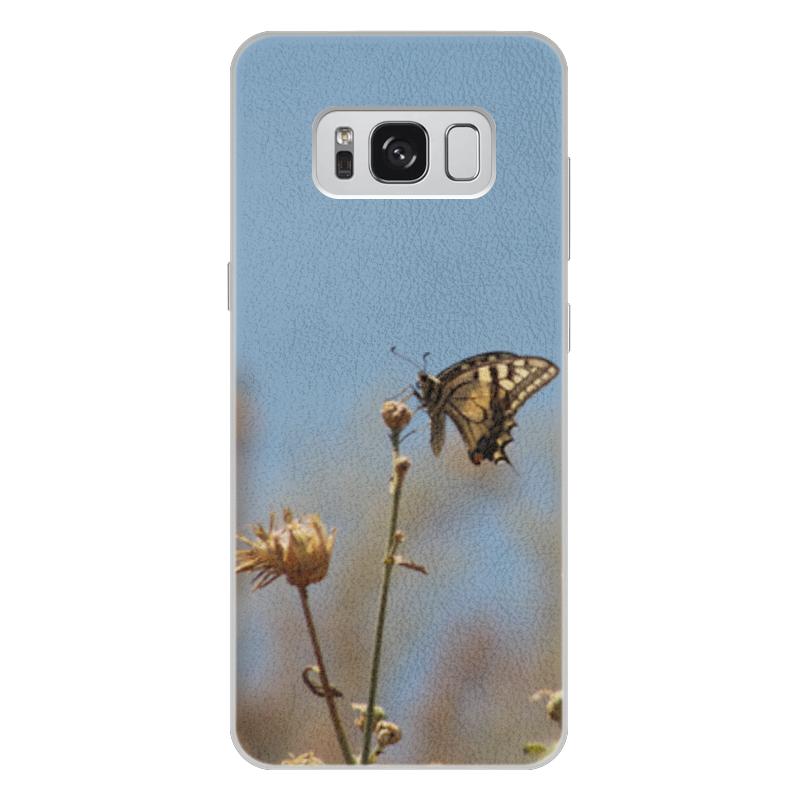 Чехол для Samsung Galaxy S8 Plus кожаный Printio Бабочка махаон издательство махаон драконы