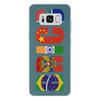 "Чехол для Samsung Galaxy S8 Plus кожаный ""BRICS - БРИКС"" - россия, китай, индия, бразилия, юар"
