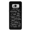 """Чехол для Samsung Galaxy S8 Plus кожаный """"Манта для настоящих мужчин (черный вариант)"""" - праздник, мужчина, подарок, пожелания, мантра"""