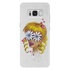 """Чехол для Samsung Galaxy S8 Plus кожаный """"Без ума от цветов"""" - любовь, девушка, цветы, сердца, блондинка"""