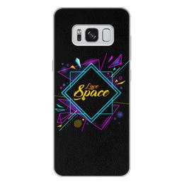 """Чехол для Samsung Galaxy S8 Plus кожаный """"Love Space"""" - звезды, космос, вселенная"""