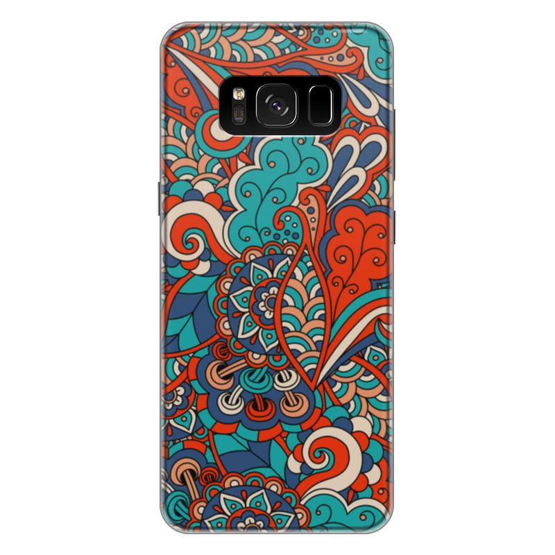 Чехол для Samsung Galaxy S8 Plus силиконовый Printio Дудл узор чехол для samsung galaxy s8 plus силиконовый printio танос