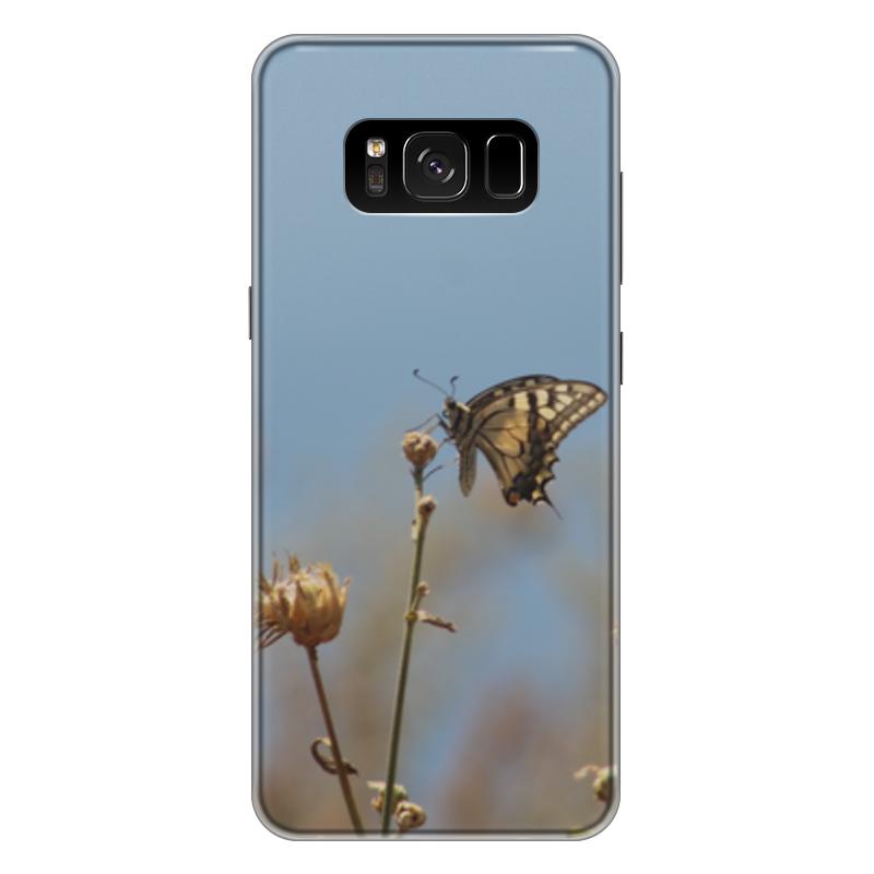 Чехол для Samsung Galaxy S8 Plus силиконовый Printio Бабочка махаон издательство махаон драконы