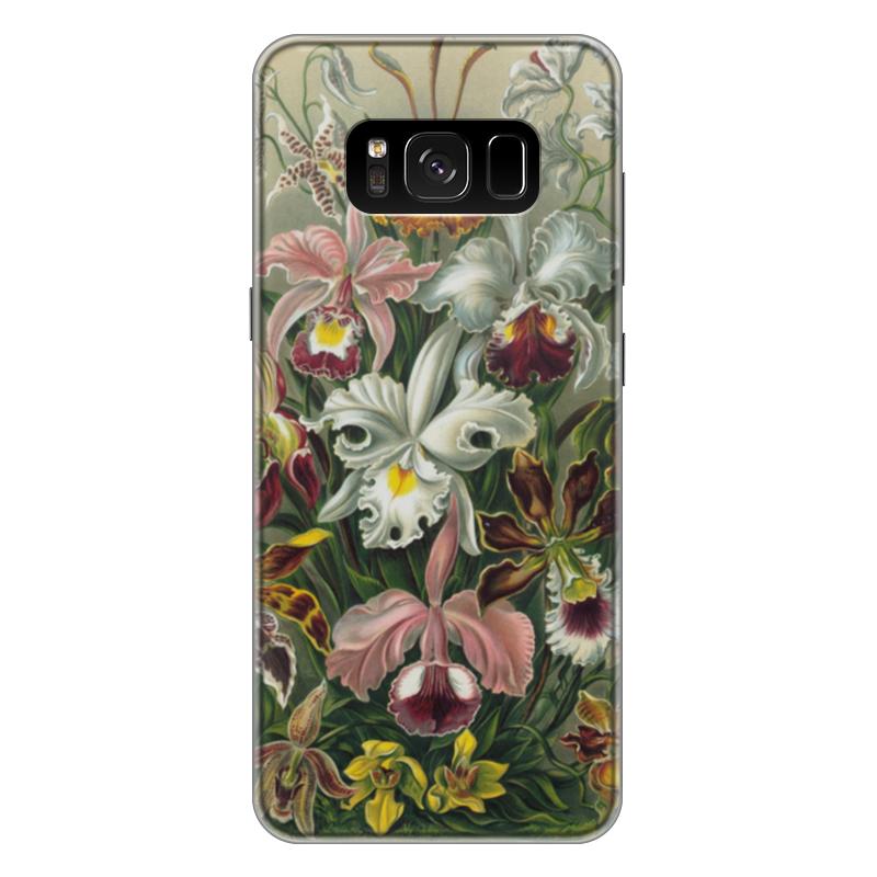Чехол для Samsung Galaxy S8 Plus силиконовый Printio Орхидеи (orchideae, ernst haeckel) самые дешевые орхидеи в москве