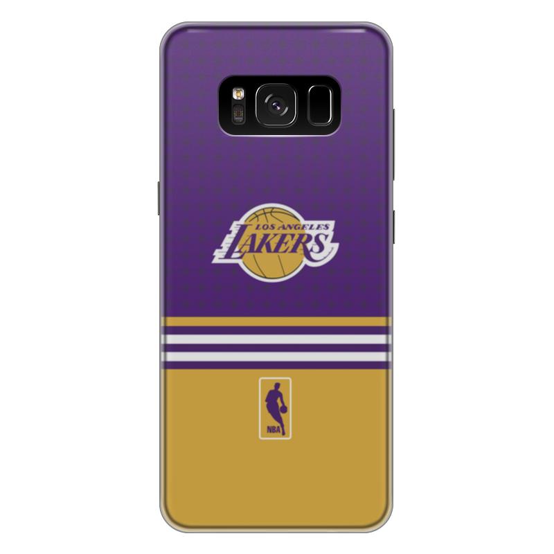 Чехол для Samsung Galaxy S8 Plus силиконовый Printio Lakers case pro baseus wing case wisas8p 02 чехол накладка для samsung galaxy s8 plus transparen white