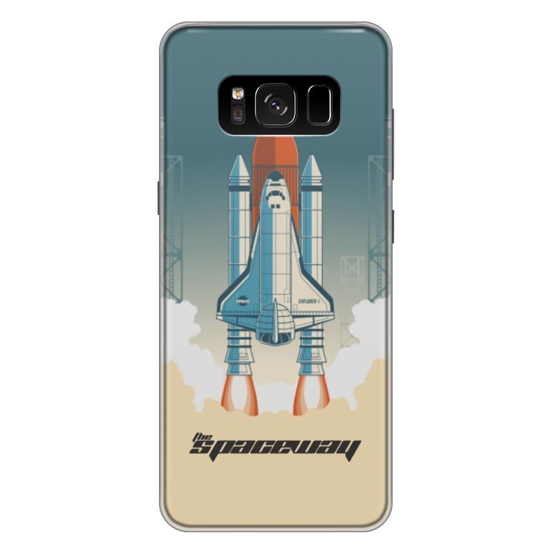Чехол для Samsung Galaxy S8 Plus силиконовый Printio Покорение космоса чехол для samsung galaxy s8 plus силиконовый printio танос