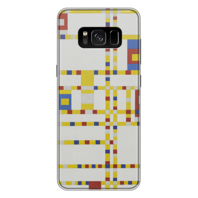 Чехол для Samsung Galaxy S8 Plus силиконовый Printio Бродвей буги-вуги (питер мондриан) чехол для samsung galaxy s5 printio бродвей буги вуги питер мондриан