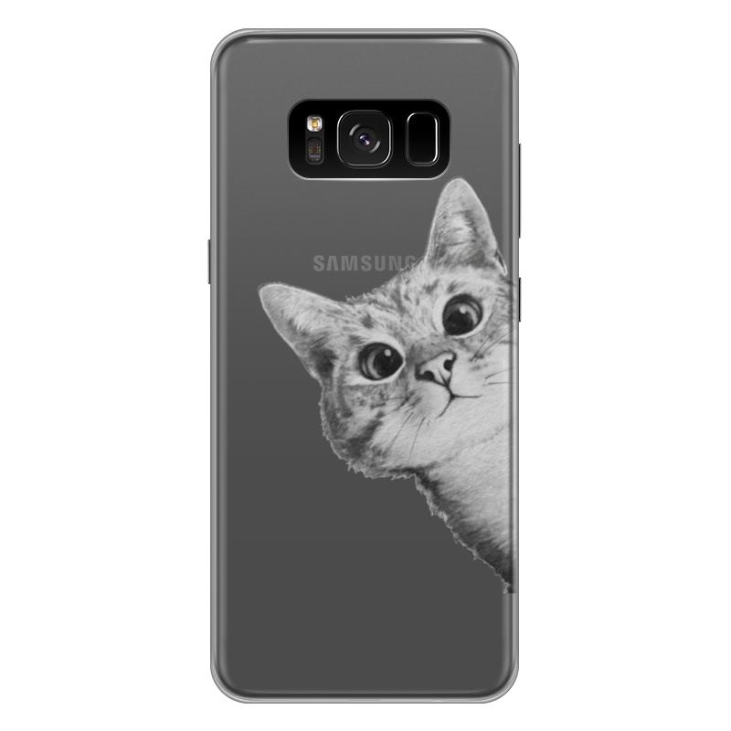 Чехол для Samsung Galaxy S8 Plus силиконовый Printio Любопытный кот чехол для samsung galaxy s8 plus силиконовый printio танос