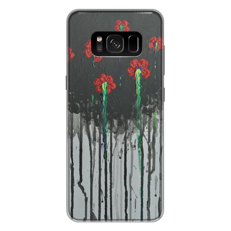 Чехол для Samsung Galaxy S8 Plus силиконовый Printio Красные маки чехол для samsung galaxy s8 plus силиконовый printio танос