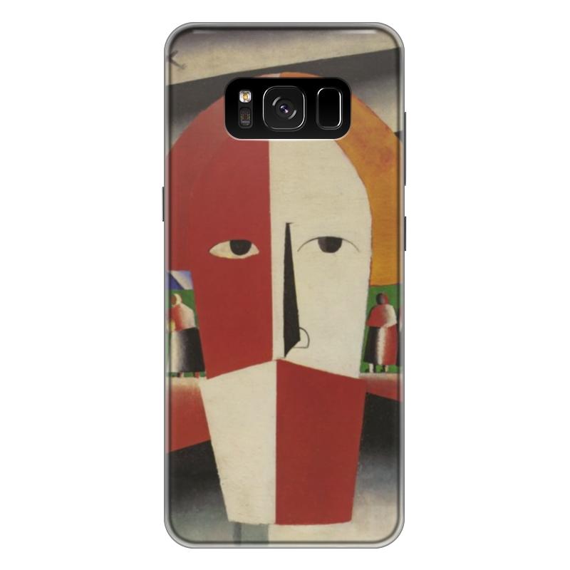 Чехол для Samsung Galaxy S8 Plus силиконовый Printio Голова крестьянина (казимир малевич)