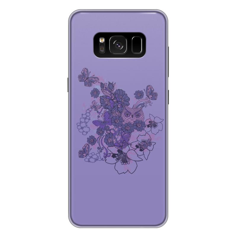 Чехол для Samsung Galaxy S8 Plus силиконовый Printio Сова в цветах чехол для samsung galaxy s8 plus силиконовый printio танос