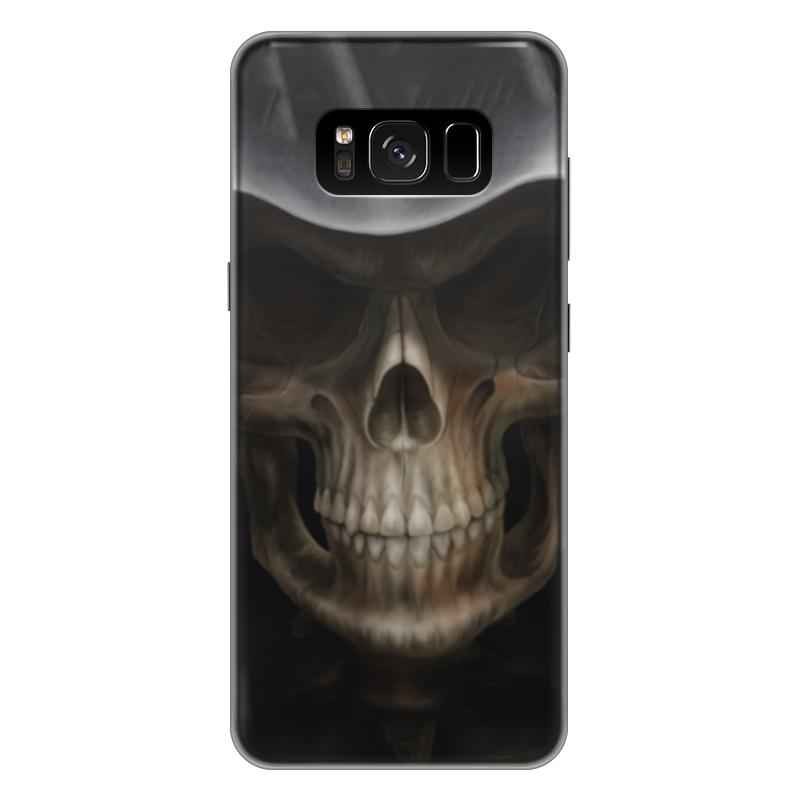 Чехол для Samsung Galaxy S8 Plus силиконовый Printio Череп в капюшоне чехол для samsung galaxy s5 printio череп художник