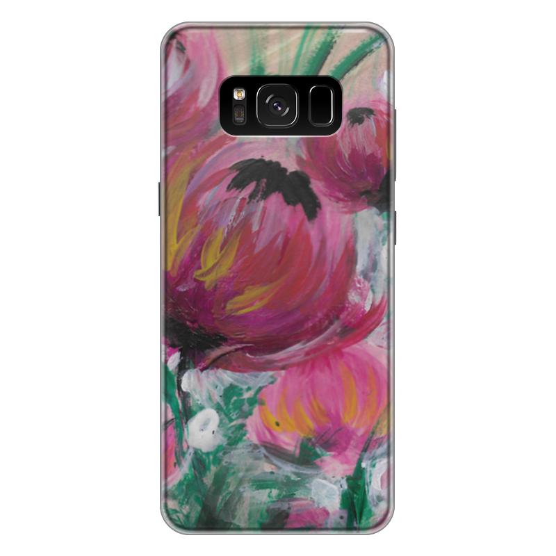 Чехол для Samsung Galaxy S8 Plus силиконовый Printio Полевые цветы st баллон для автоматического освежителя воздуха полевые цветы 39 мл