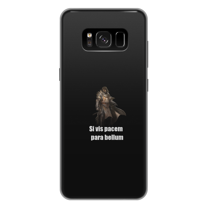 Чехол для Samsung Galaxy S8 Plus силиконовый Printio Хочешь мира - готовься к войне чехол для samsung galaxy note 2 printio хочешь мира готовься к войне