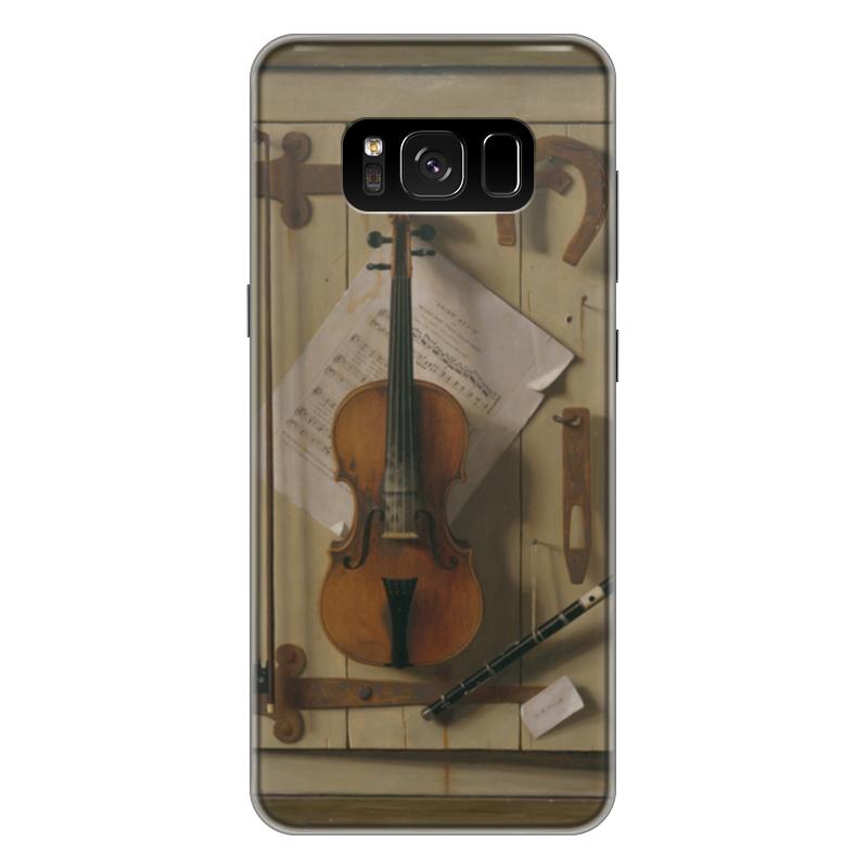 Чехол для Samsung Galaxy S8 Plus силиконовый Printio Натюрморт со скрипкой (уильям харнетт) пазл castor land 68 47см натюрморт со скрипкой и живописью 1000эл