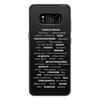"""Чехол для Samsung Galaxy S8 Plus силиконовый """"Манта для настоящих мужчин (черный вариант)"""" - праздник, мужчина, подарок, пожелания, мантра"""