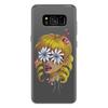 """Чехол для Samsung Galaxy S8 Plus силиконовый """"Без ума от цветов"""" - любовь, девушка, цветы, сердца, блондинка"""