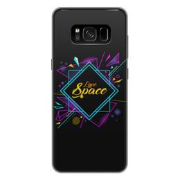 """Чехол для Samsung Galaxy S8 Plus силиконовый """"Love Space"""" - звезды, космос, вселенная"""