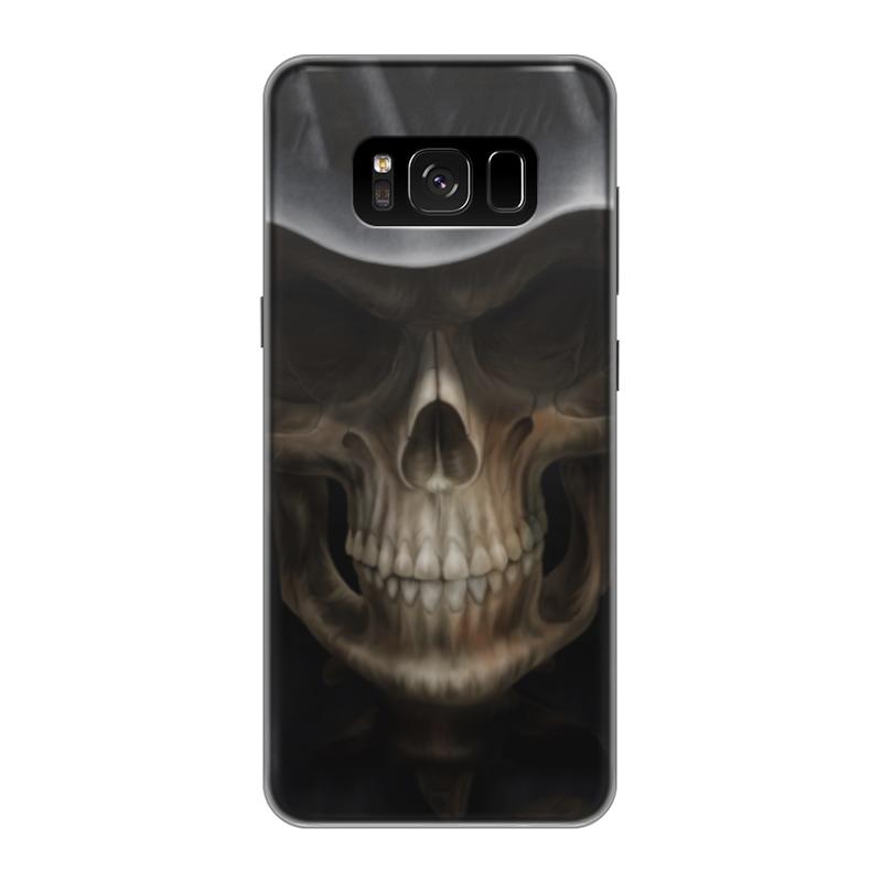 Чехол для Samsung Galaxy S8 силиконовый Printio Череп в капюшоне чехол для samsung galaxy s5 printio череп в капюшоне