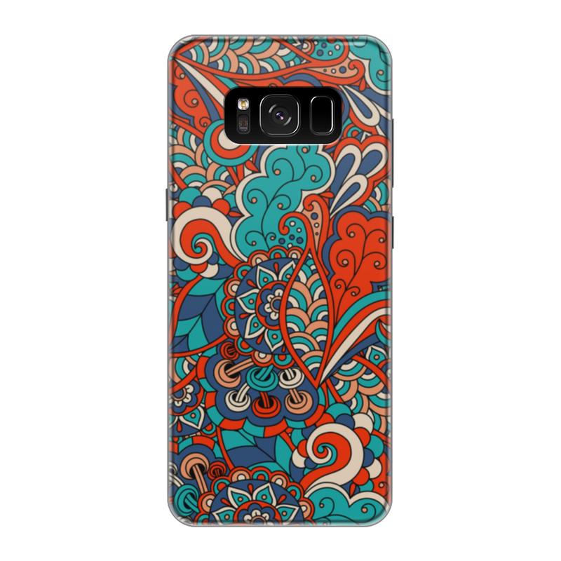Чехол для Samsung Galaxy S8 силиконовый Printio Дудл узор чехол для samsung galaxy s8 силиконовый printio сталкер
