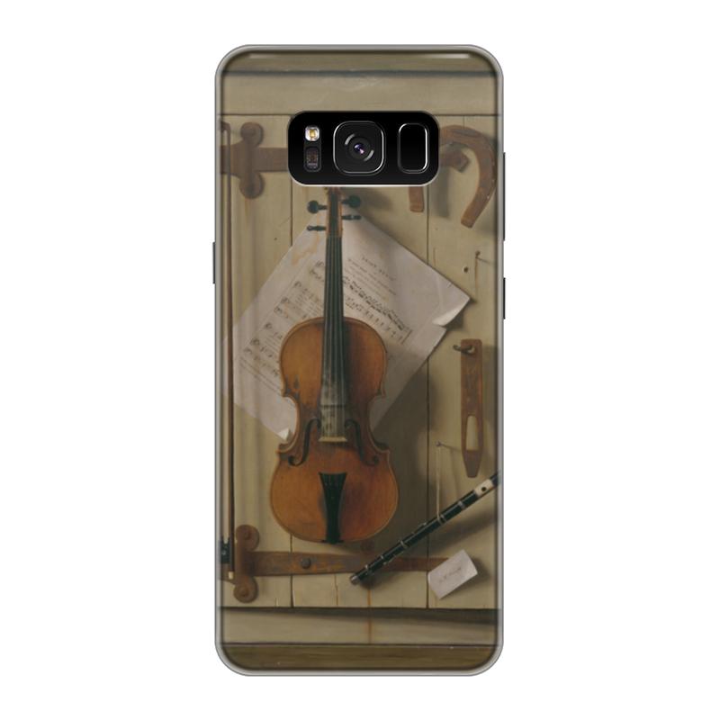 Чехол для Samsung Galaxy S8 силиконовый Printio Натюрморт со скрипкой (уильям харнетт) чехол для samsung galaxy s5 printio натюрморт со скрипкой уильям харнетт