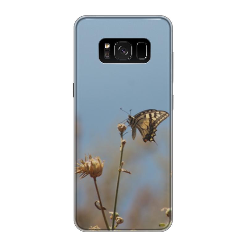 Чехол для Samsung Galaxy S8 силиконовый Printio Бабочка махаон издательство махаон драконы