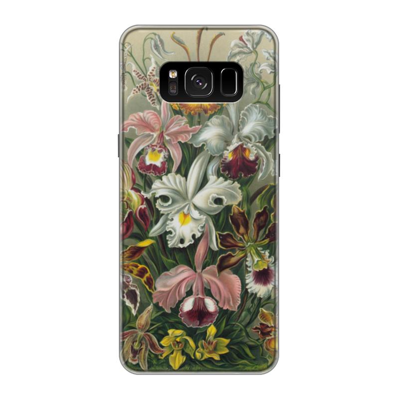 Чехол для Samsung Galaxy S8 силиконовый Printio Орхидеи (orchideae, ernst haeckel) самые дешевые орхидеи в москве