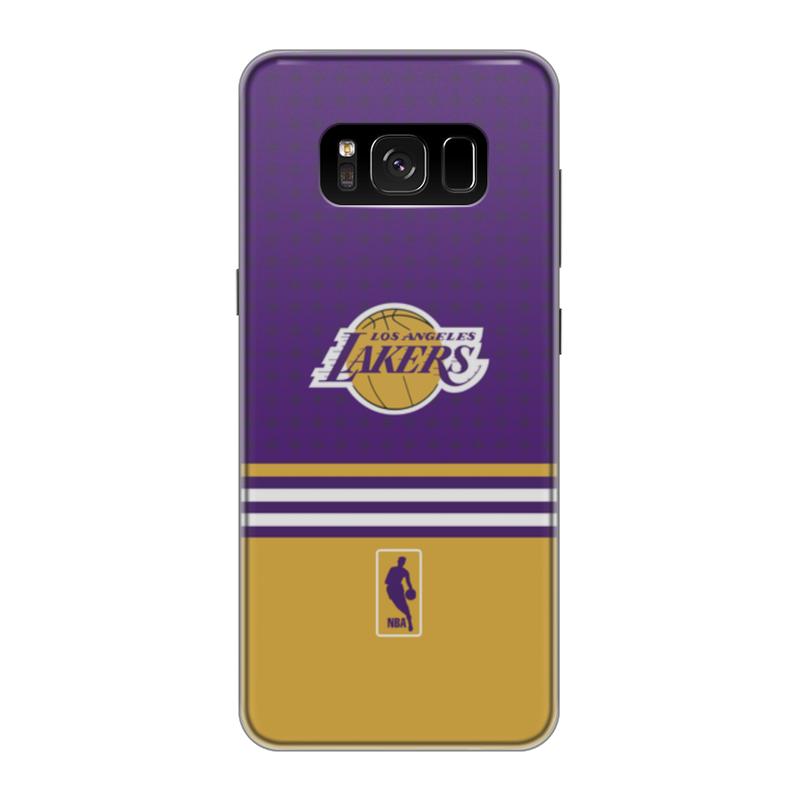 Чехол для Samsung Galaxy S8 силиконовый Printio Lakers case pro баскетбольную форму lakers