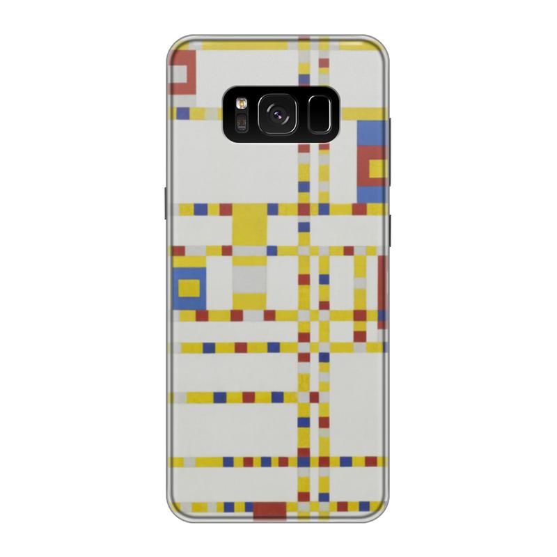 Чехол для Samsung Galaxy S8 силиконовый Printio Бродвей буги-вуги (питер мондриан) чехол для samsung galaxy s5 printio бродвей буги вуги питер мондриан