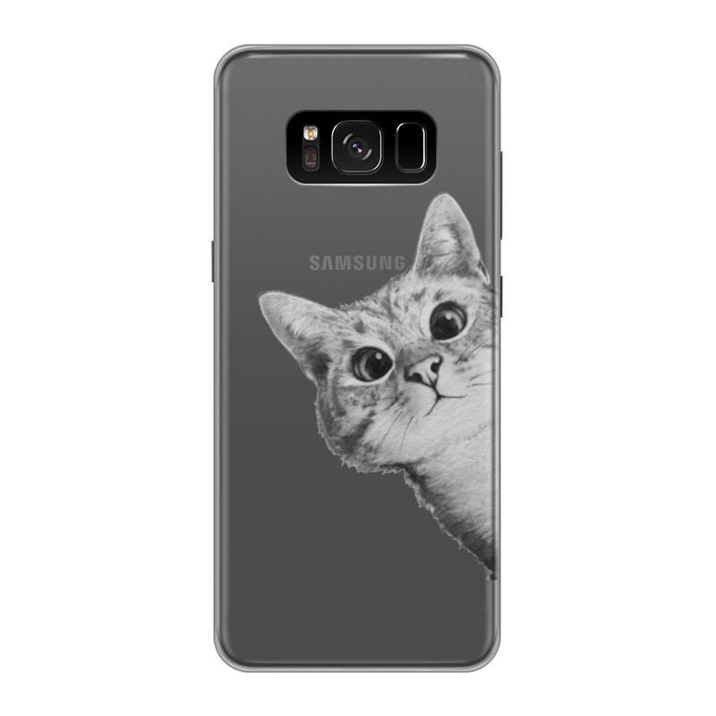 Чехол для Samsung Galaxy S8 силиконовый Printio Любопытный кот чехол для samsung galaxy s8 силиконовый printio танос