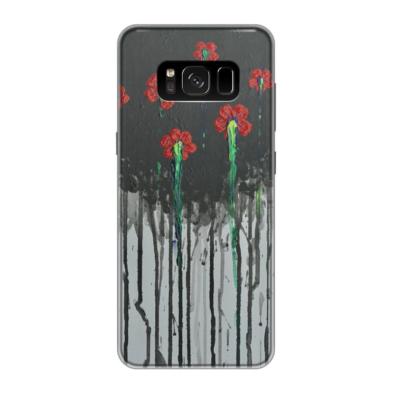Чехол для Samsung Galaxy S8 силиконовый Printio Красные маки чехол для samsung galaxy s8 силиконовый printio сталкер