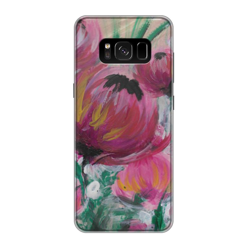 Чехол для Samsung Galaxy S8 силиконовый Printio Полевые цветы st баллон для автоматического освежителя воздуха полевые цветы 39 мл