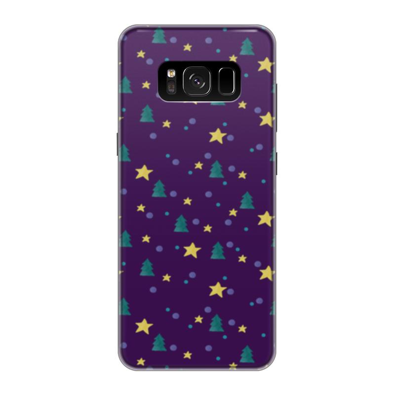 Чехол для Samsung Galaxy S8 силиконовый Printio Елки и звезды