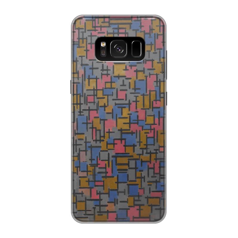Чехол для Samsung Galaxy S8 силиконовый Printio Композиция (питер мондриан) чехол для карточек пит мондриан дк2017 110