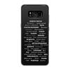 """Чехол для Samsung Galaxy S8 силиконовый """"Манта для настоящих мужчин (черный вариант)"""" - праздник, мужчина, подарок, пожелания, мантра"""