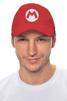 """Кепка """"Mario logo"""" - nintendo, марио, супермарио, snes"""