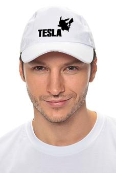 "Кепка ""Tesla"" - pokemon, покемон, пикачу, тесла, pikachu"