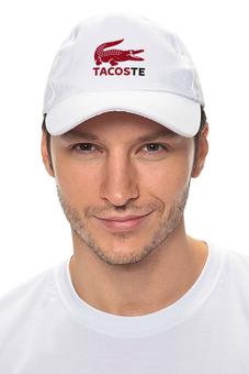"Кепка ""Tacoste"" - крокодил, lacoste, deadpool, марвел, дэдпул"