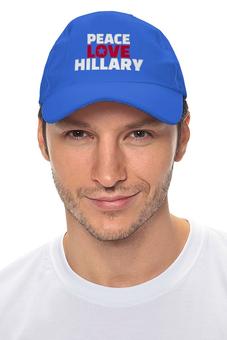 "Кепка ""Peace Love Hillary"" - сша, президент, выборы, клинтон, дональд трамп"