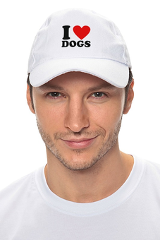 "Кепка ""I love dogs"" - i love dogs, я люблю собак, heart, сердце"