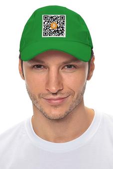 """Кепка """"QR код желтый"""" - шапка биткоин, bitcoin shop, крипто шапка, стиль биткоин, одежда биткоин"""