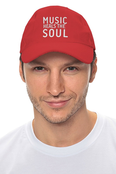 "Кепка ""Music heals the soul"" - музыка, dj, music, club, клуб"
