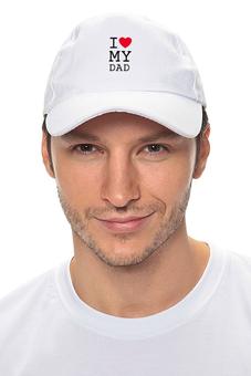 "Кепка ""I love my dad"" - i love my dad, я люблю своего отца, heart, сердце"