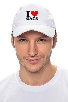 """Кепка """"I love cats"""" - i love cats, я люблю кошек, heart, сердце"""